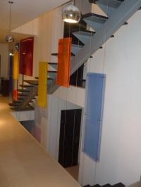 Стъклена висяща система за стълби
